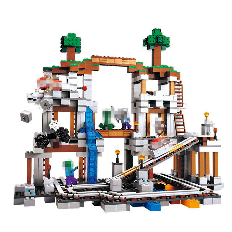 LELE The Mine Building Blocks Sets Bricks My worlds Movie Classic Model Kids Minecrafted Toys For Children Compatible Legoe killer mine