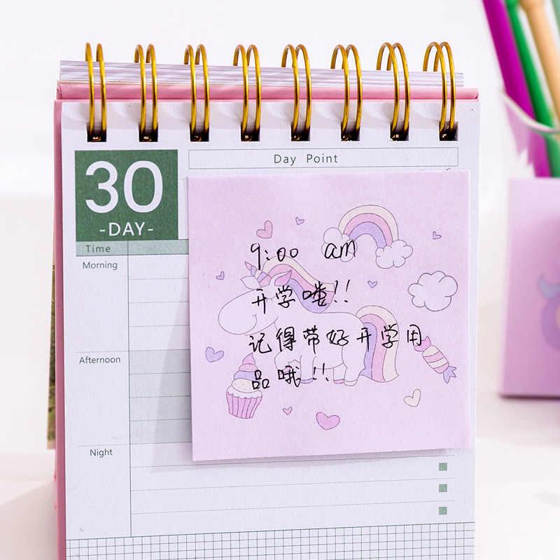 1 шт. 80 страниц Kawaii Радуга Единорог Липкие заметки креативный блокнот для заметок милый DIY блокнот для заметок офисные принадлежности школьные канцелярские принадлежности