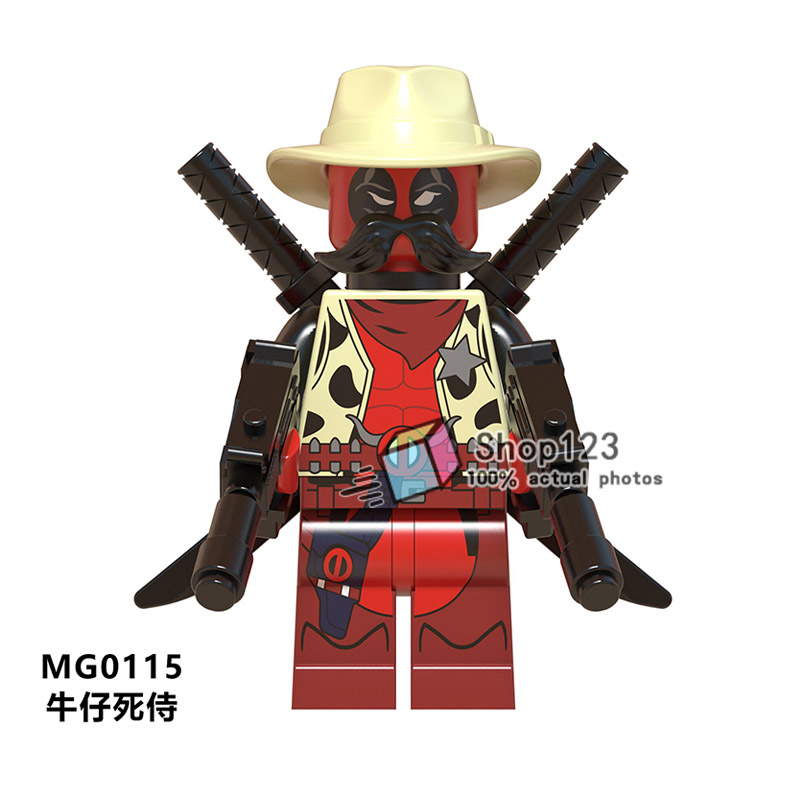 Ambitious Single Sale Marvel Super Heroes Collection Deadpool Mg0115 Building Blocks Educational Toys For Children Gifts Model Building