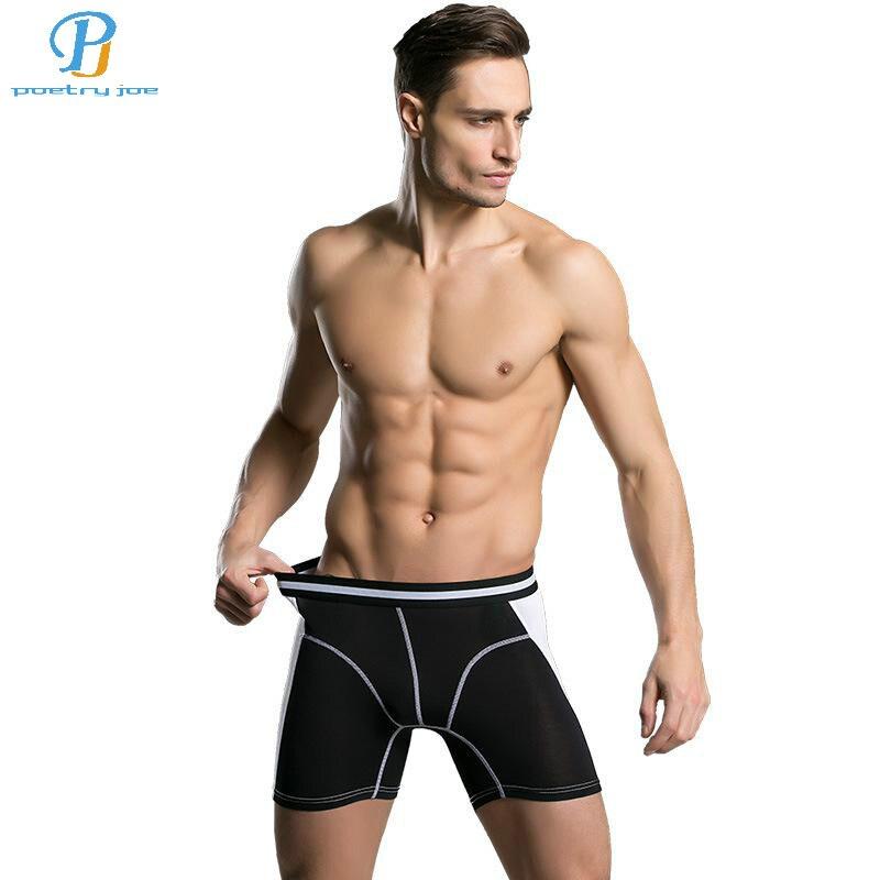 Nya män underkläder boxare mode färgbyxor billiga modal män underkläder märke boxare män underkläder boxare shorts förlängda