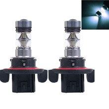 H13 9008 Противотуманные огни 100 W Белый 6500 K 12 V автомобиль светодиодный света 20 SMD светодиодный проектор DRL Габаритные огни вождения авто лампы