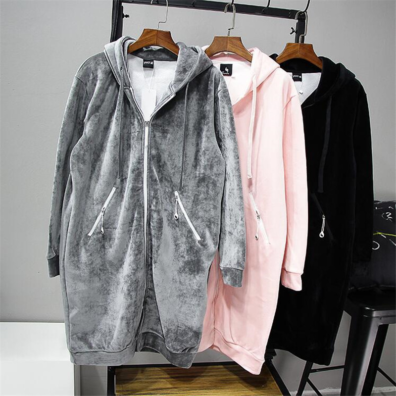 2020 Autumn New Women Thick Warm Hooded Basic Coats jacket Casual Lady Winter Long Fashion 10