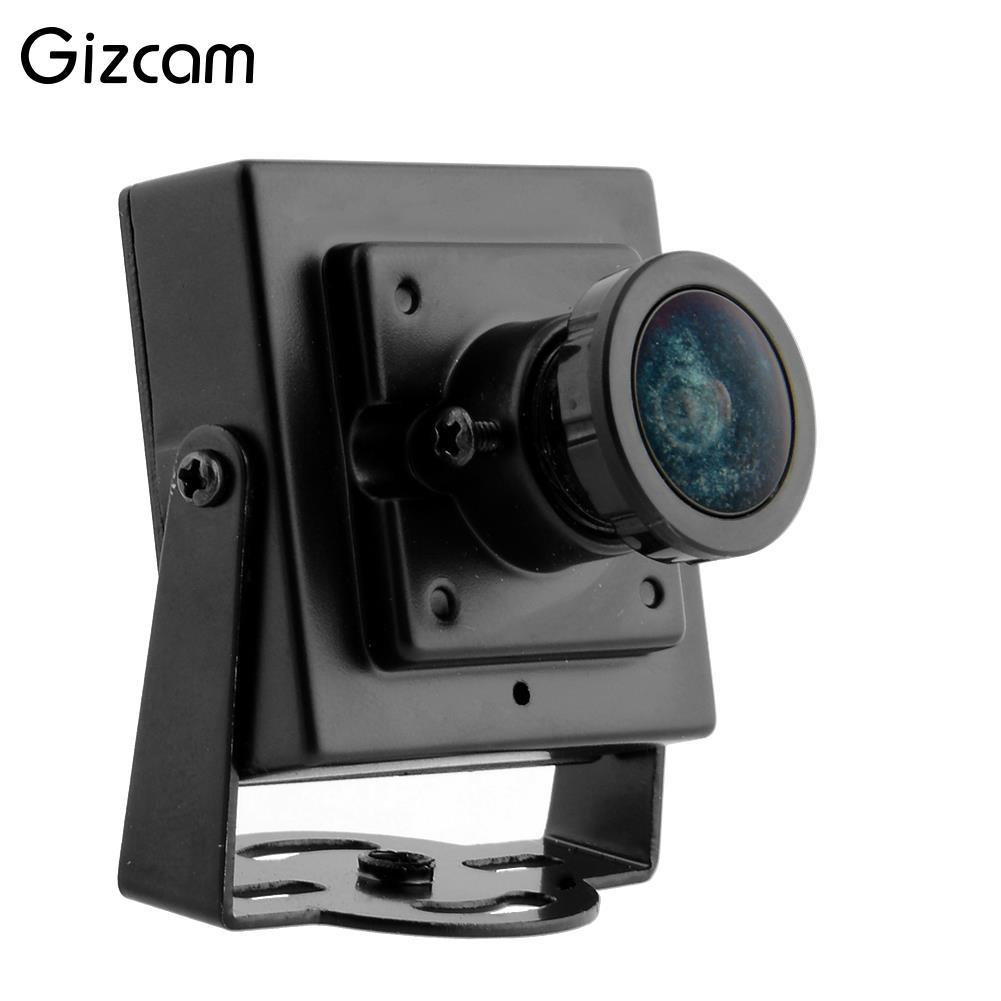 Gizcam FPV Mini Câmera Digital do Vedio HD 700TVL Mini Câmera de Vídeo para a Fotografia Aérea Preto Wide Angle