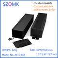 1 unidades, 40*50*200mm aluminio caja electrónica DIY caja extrusión del szomk caja electrónica caja de aluminio del proyecto del recinto