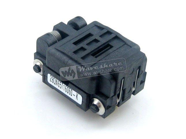 Parts QFN28 MLP28 MLF28 28QN65T16060 Plastronics IC Test Burn-in Socket QFN Programming Adapter 0.65mm Pitch import ots 28 0 65 01 burning seat tssop28 test programming