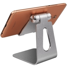 Aluminum Alloy Mobile Phone Holder Universal Tablet For iPad Switch Kickstand Rotatable Metal Table Desktop Dock Stand Mount цена и фото