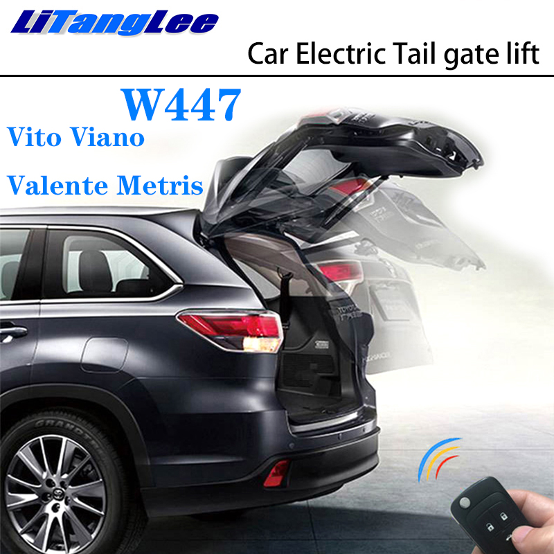 LiTangLee Car Electric Tail Gate Lift Trunk Rear Door Assist System For Mercedes Benz MB V Class W447 Vito Viano Valente Metris