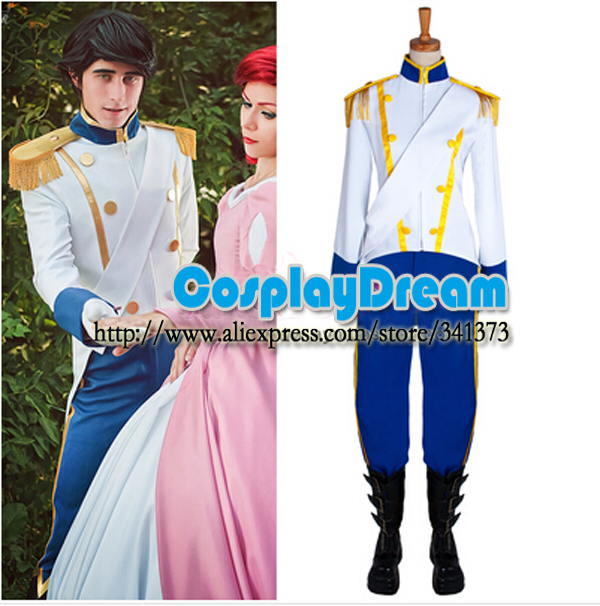 The Little Mermaid Ariel Prince Costume Cosplay Custom Made Adult Halloween Ariel Party Cosplay Costume 2017 the little mermaid ariel skirt princess ariel costume dress for adult cosplay costume tailor made