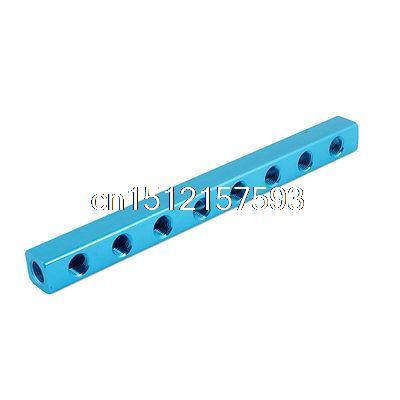 Blue 1/4PT Air Pneumatic Cylinder 8 Way Aluminum Manifold Block Splitter кроссовки coccodrillo кроссовки