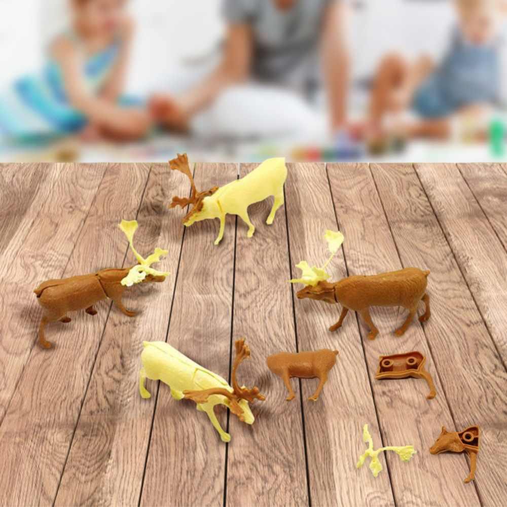 1PC Anak-anak Elk Model Mainan Natal DIY Twisted Telur Dekorasi Hadiah Natal Elk Kecil Menggantung Mainan Baby Santa Claus elk Rusa