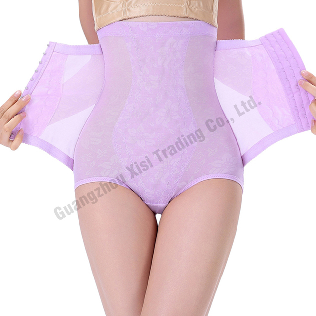 8a7fa14ab07 Purple Butt lifter Full Body Shapers Steel Boned Corset High Waist Design  Control Panty Girdles Sex Enhancer Belly Hip Support