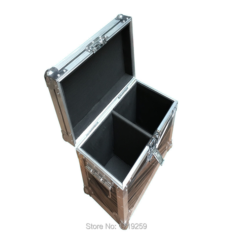 Flight Case with 2 pieces MINI LED Spider Beam Moving Head Light LED 8x10W Bar beam led spider light uplighting Free Shipping