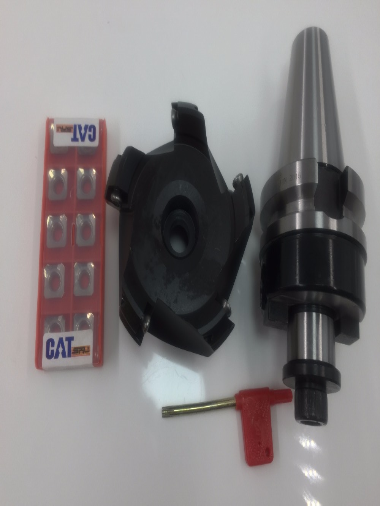 New SE-KM12-45 degree face mill cutter KM12 50-22-4T +BT40 FMB22 45mm M16 and 10pcs SEKT1204 aluminium carbide inserts