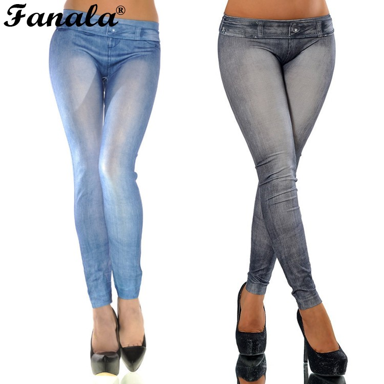 Printed jeans jeggings