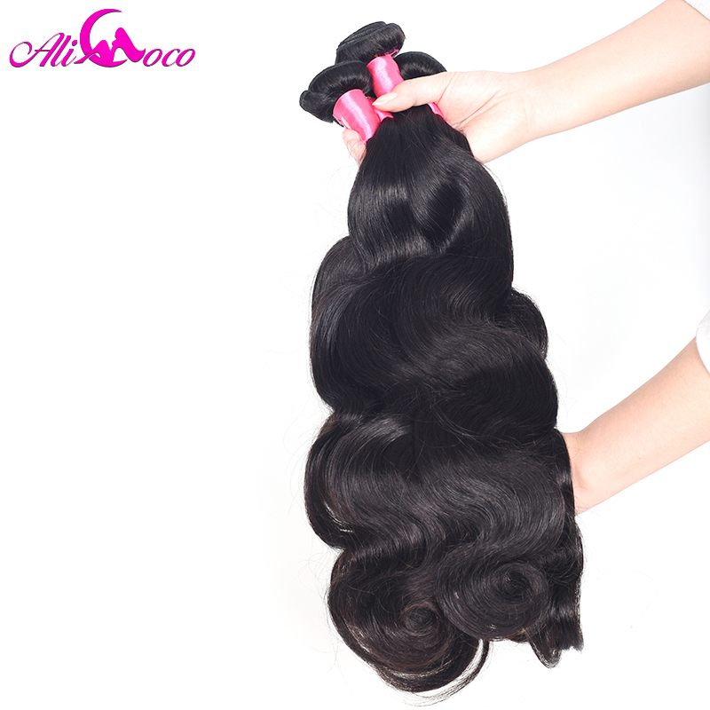 Ali Coco Hair 1 Piece Indian Body Wave Hair Weaving 100% Human Hair 10-28 Inch Non-Remy Hair Free Shipping