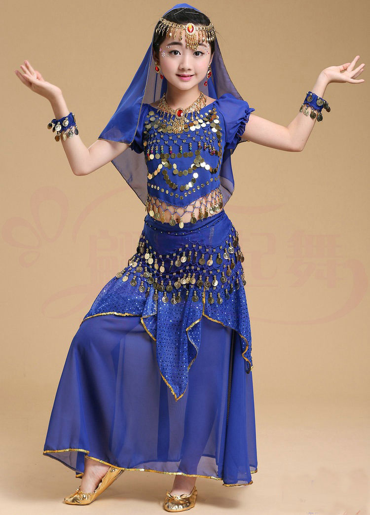 Belly Dance Costume Kids Indian Dance Dress Child Bollywood Dance ... 1aeebc855e0c