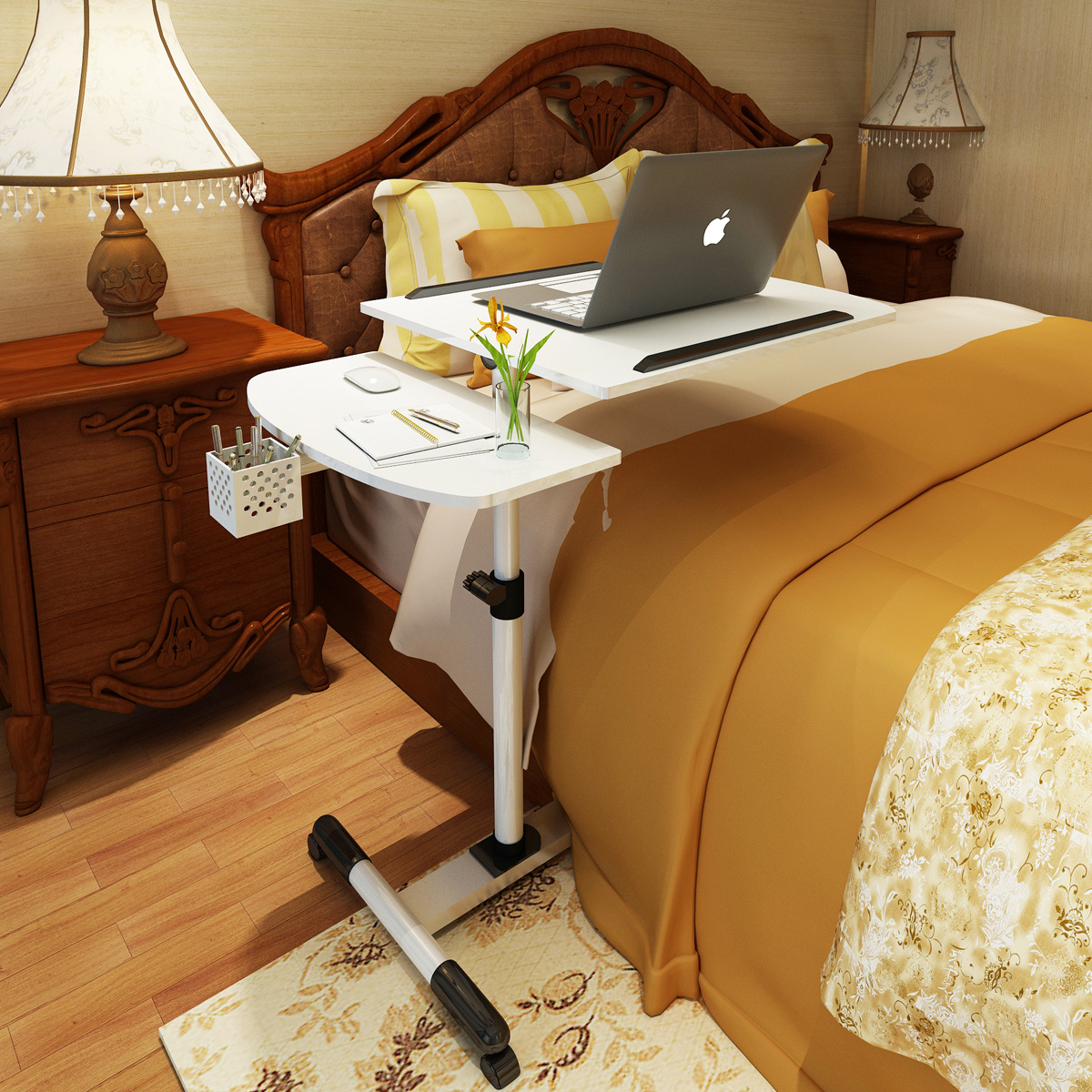 Superb Us 65 87 20 Off Height Adjustable Rolling Table Desk Laptop Notebook Stand Tiltable Tabletop Desk Sofa Bed Side Table Hospital Table Stand In Laptop Unemploymentrelief Wooden Chair Designs For Living Room Unemploymentrelieforg