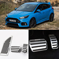 Brand New 3pcs Aluminium Non Slip Foot Rest Fuel Gas Brake Pedal Cover For Ford Focus AT 2008-2017