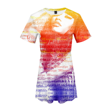 LUCKYFRIDAYF K-pop Summer 3D Nicki Minaj Soft Pop print Nice womans dress Fashion Women Cool Print Lovely Clothes