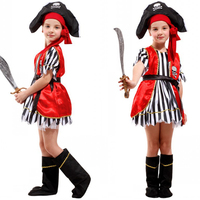 High quality Halloween children's costumes girls party performance clothing Demon City Pirate costume Christmas children's dress