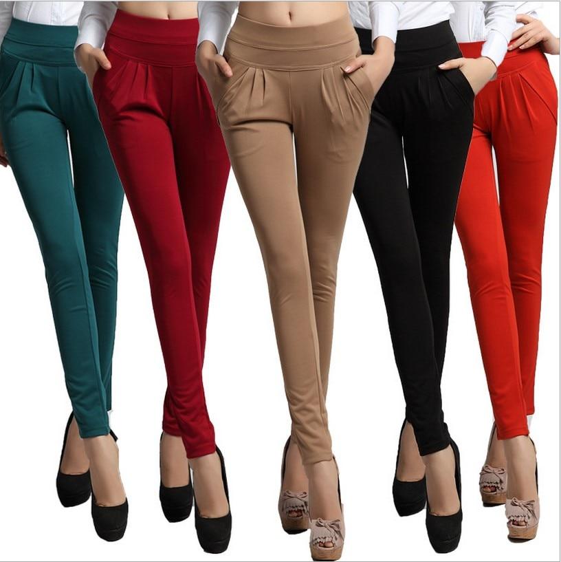 Fsdkfaa  Women's Spring Autumn Trouser Fashion Full Length Pocket Plus Size 6XL Women Loose Elastic Casual Work Wear Harem Pants