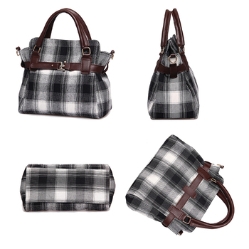 Fashion Lock Canvas Crossbody Bags For Women Messenger Bags Patchwork Ladies Flap Bag High Quality Women Handbags 1