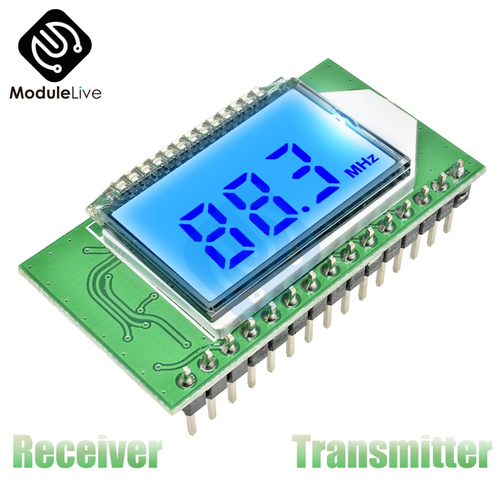 87-108MHZ Digital FM Radio Transmitter/Receiver Wireless Wifi PLL LCD  Module Microphone Stereo Board Noise Reduction Low Noise