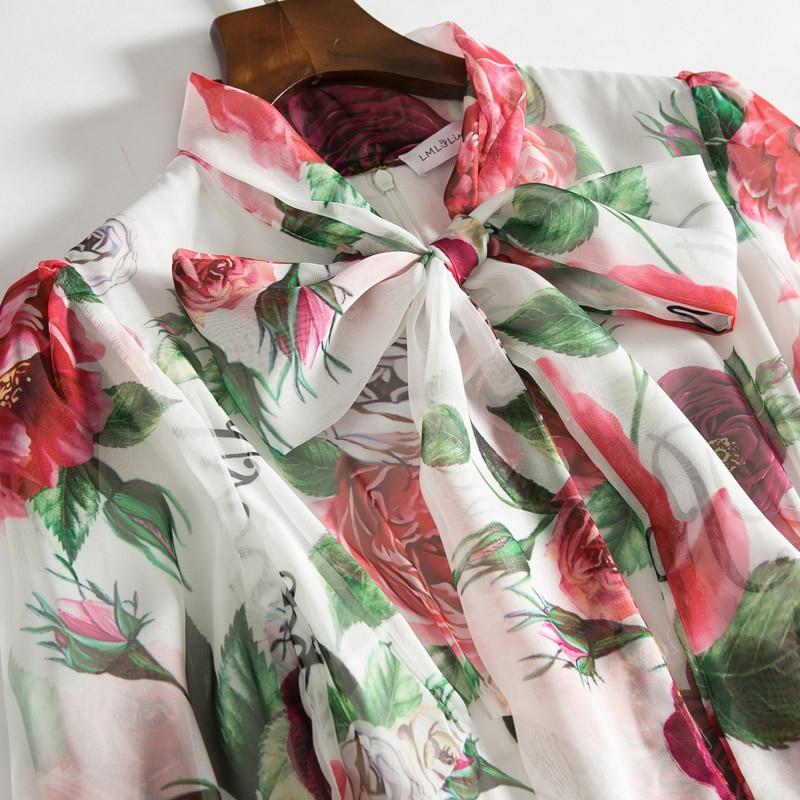 Högkvalitativa Runway Floral Long Dress 2018 Ny Sommar Mode Women - Damkläder - Foto 5