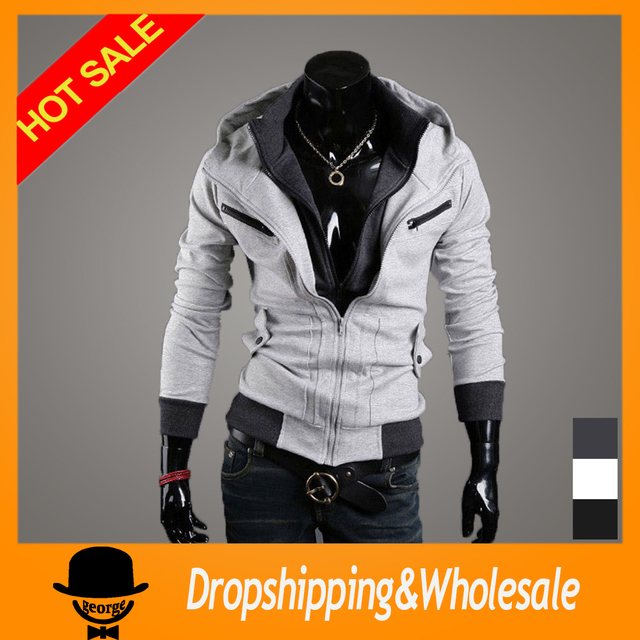 Free Shipping New Men's Cotton Winter Hoodies Dress Cardigan Coat Mens Sports Casual Sweatshirt Jackets Outerwear M~XXL X-330