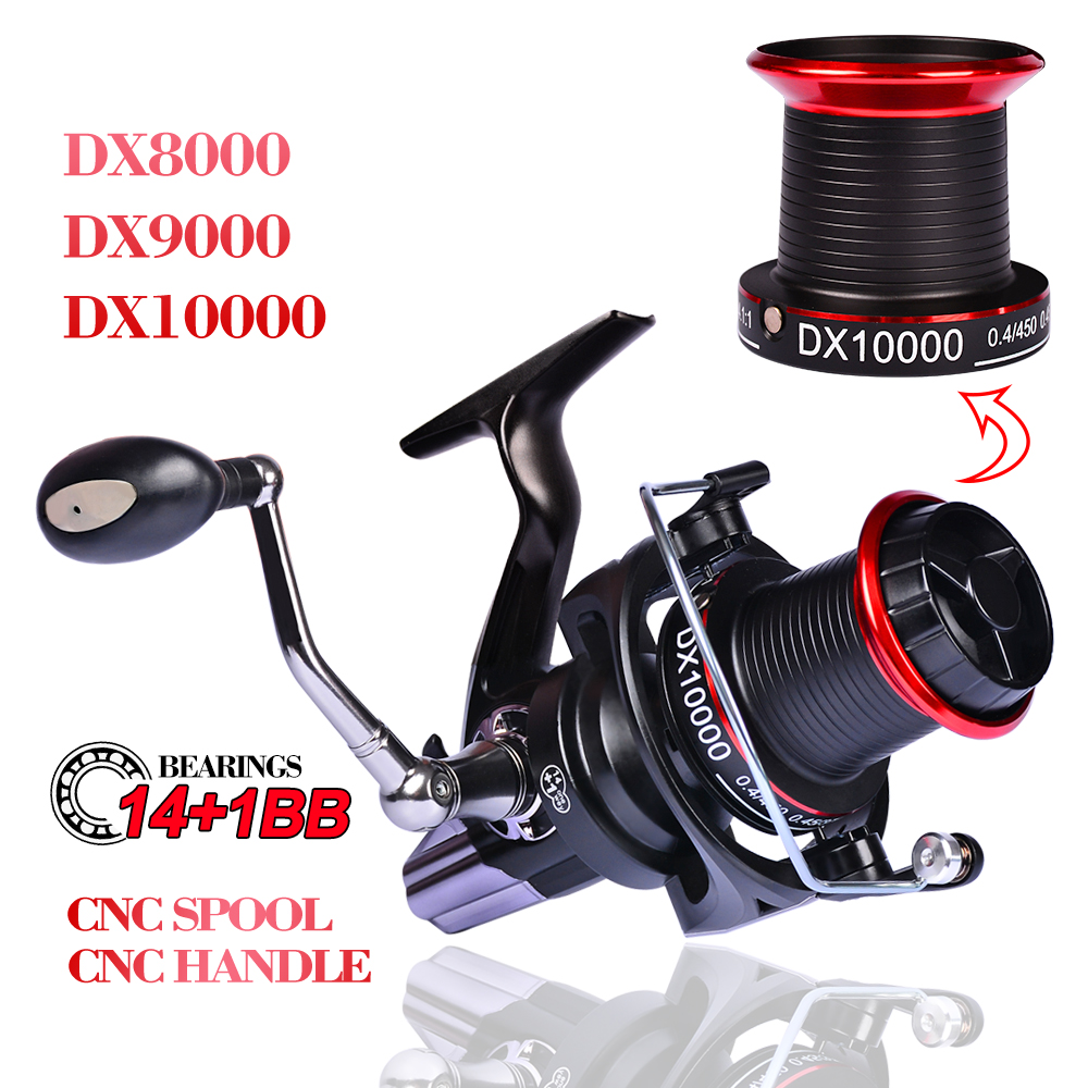 PRO BEROS Aluminium Spool Fiber Fishing Reel 8000 10000 Series Spinning Reel 14 1BB Stainless Steel