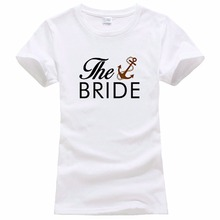 Company T Shirts Short Sleeve Women Printed The Bride Groom Wedding Marriage Bridal Party Funny Crew Neck Tee