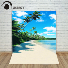Allenjoy photographic background Beach sand sea woods backdrops baby boy digital customize 8×8