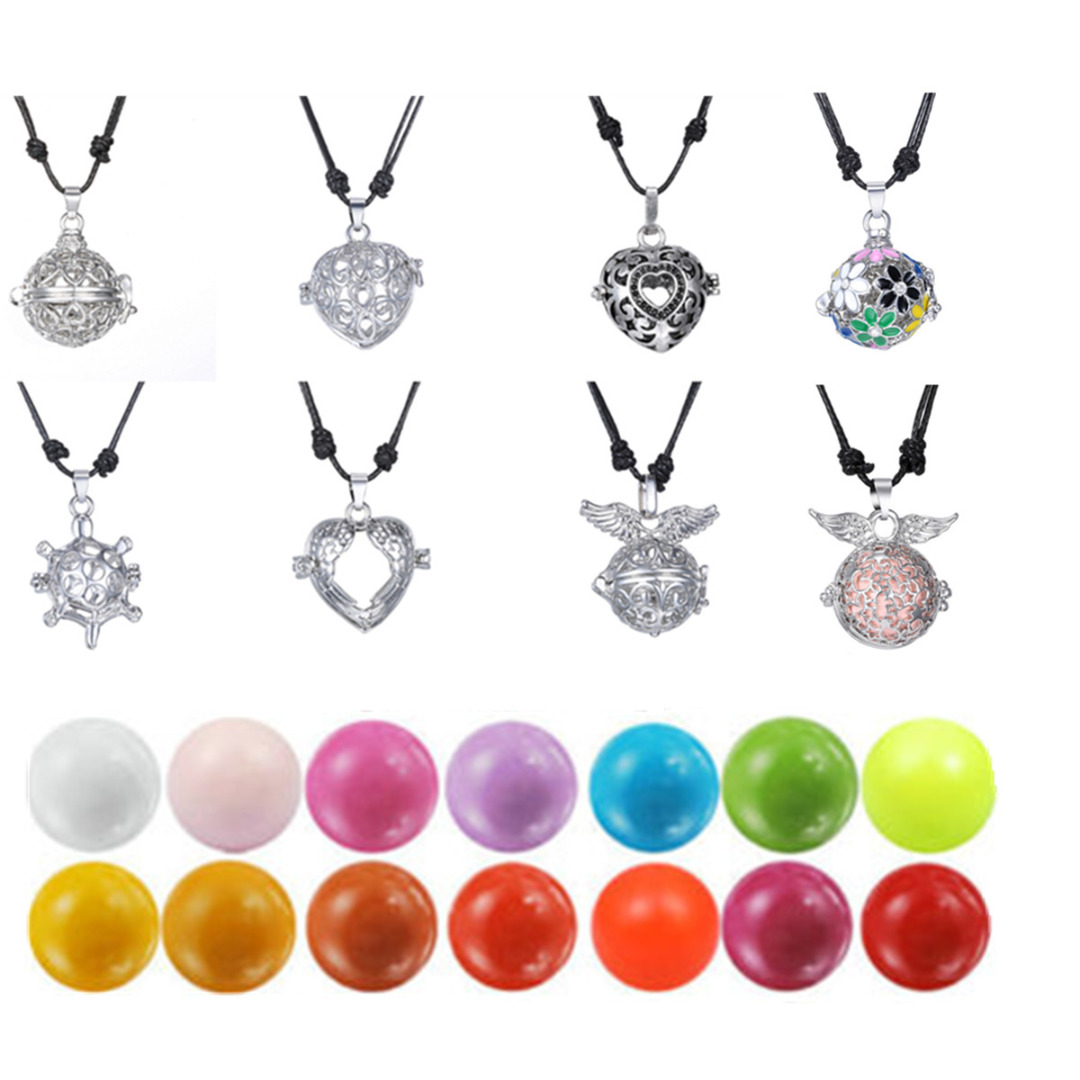 Fashion Pregnant Pendant Necklace Shellhard Sound Mexican Harmony Ball Necklace & Pendants For Women DIY Necklace 16mm