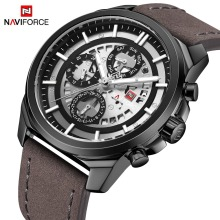 Men Watches NAVIFORCE Top Brand Men Casual Leather Date Quartz Watch Mens Week Army Military Sport Wristwatch Relogio Masculino