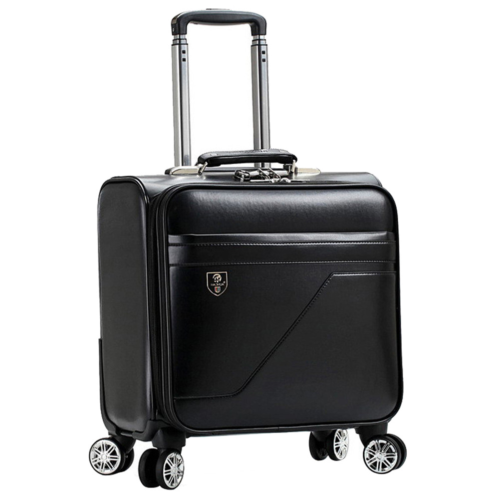 16 بوصة المتداول الأمتعة حقيبة الصعود حالة السفر الأمتعة سبينر الحالات عربة حقيبة بعجلات حالة-في حقائب سفر بعجلات من حقائب وأمتعة على  مجموعة 1