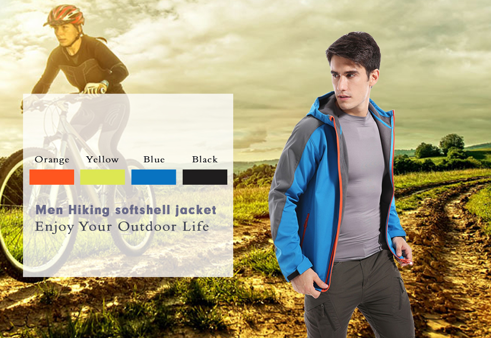 SAENSHING Waterproof Softshell Jacket Men's For Hiking and Outdoor Sports