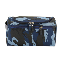 9 Colour Nylon Camo Solid Zippered Tote Cosmetic Organizer Storage Handbags Toiletry Makeup Bag For Outdoor