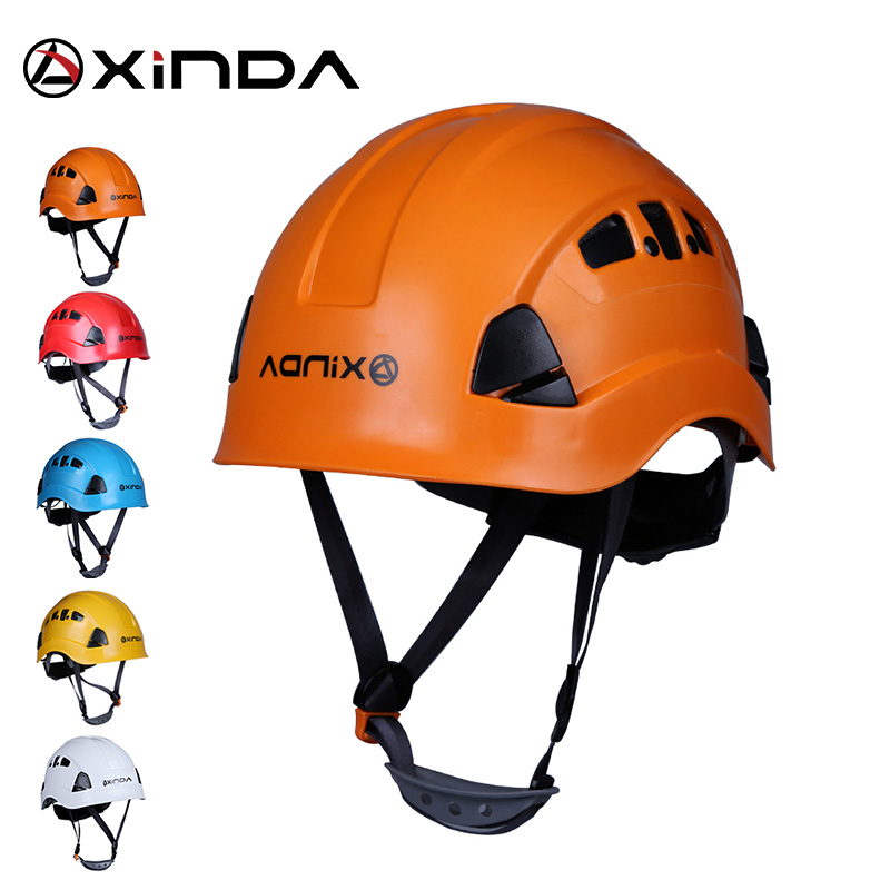 Xinda Professional Mountaineer Rock Climbing Helmet Safety Protect Outdoor Camping Hiking Riding Helmet Survival Kit