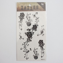 Fashion Trends Waterproof Temporary Black Henna Female Tattoo Stickers HM663-2