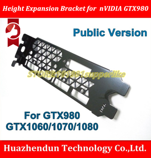 DEBROGLIE 1PCS Full Height Expansion Bracket For NVIDIA GTX980 GTX1060  GTX1070 GTX1080 Graphics Card With DVI+HDMI+DP*3 Slot