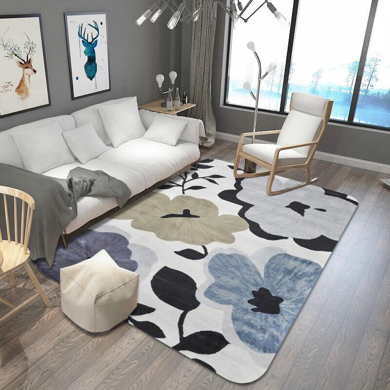 Feuilles imprimé tapis et tapis pour salon et chambre tapis de zone douce mode tapis de Table enfants tapis de jeu bébé tapis de sol tapis - 3