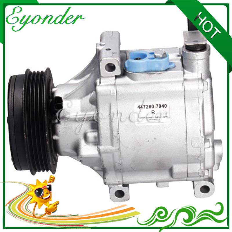 A/C AC Air Conditioning Compressor SCSA08C Cooling Pump for Subaru Liberty BL BP B13 2.0 2.5 2.5i AWD 4471906590 447190-6590