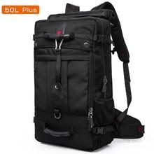 50L 高容量品質オックスフォード防水ノートパソコンのバックパック MultifunctionalMochila 学校バッグアウトドアハイキング旅行荷物袋