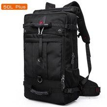50l 높은 용량 품질 옥스포드 방수 노트북 배낭 다기능 mochila 학교 가방 야외 하이킹 여행 짐 가방