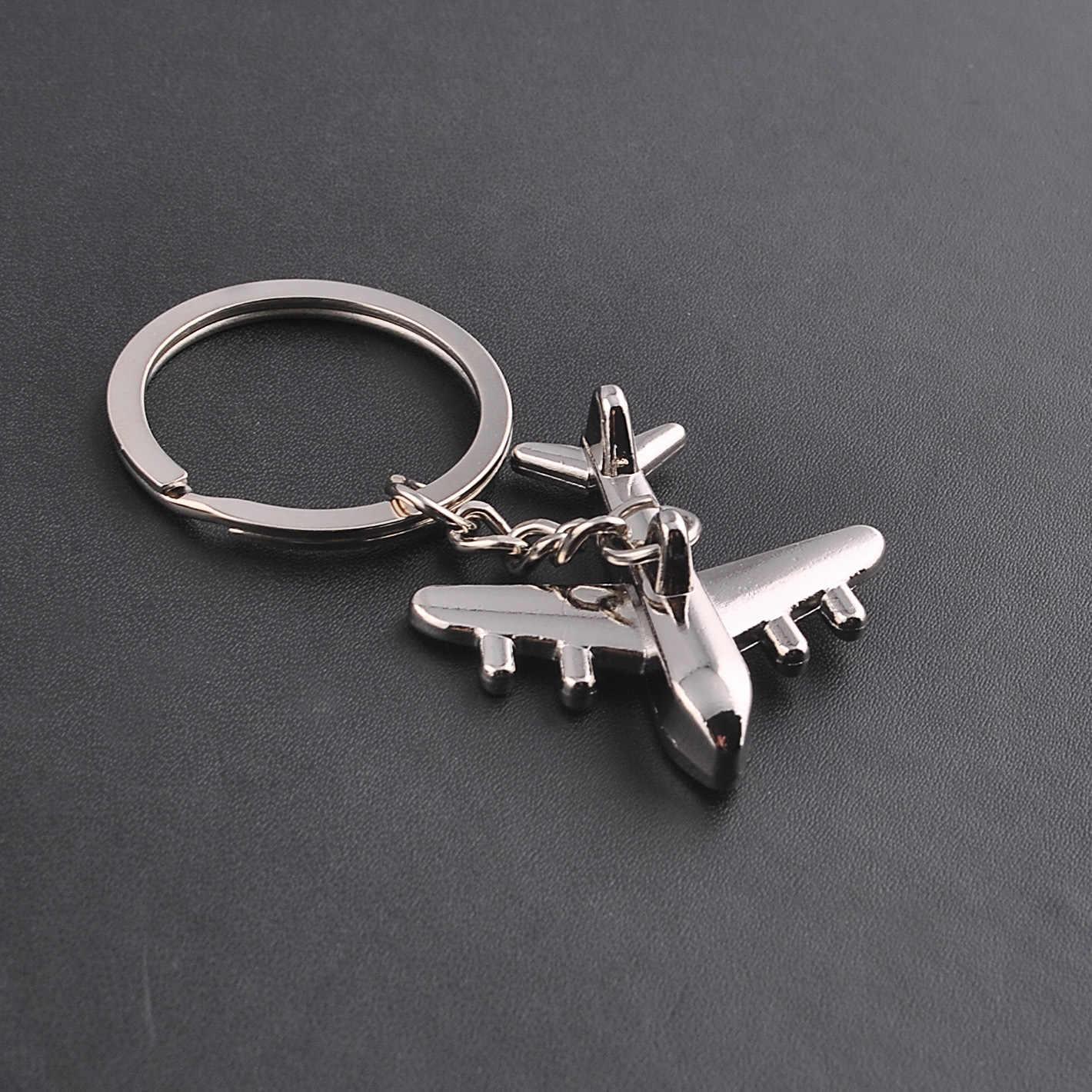 ... Keychain Modern Fighter Aircraft Airplane Key Chain Mini aircraft Key  Ring Bag Pendant Car Keyring For ... 149df04eb