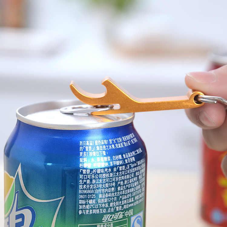 Mejor abridor de botellas de cerveza de acero inoxidable de aleación de aluminio portátil con llavero de diseño 2 en 1 para fiesta regalo multifunción