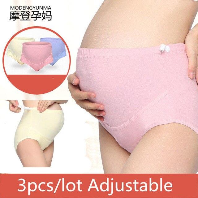 86ee604332081 3pcs lot Cotton Pregnant Women Underwear High Waist Maternity Shorts Panties  Adjustable Pregnancy Briefs Women Clothes Pants