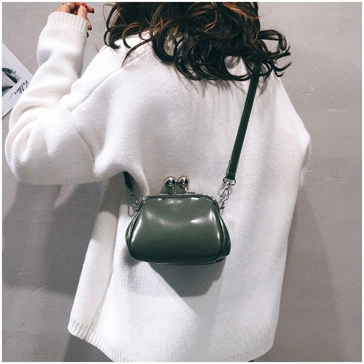 bags women leather shoulder crossbody bag women's handbag kiss lock bag (7)