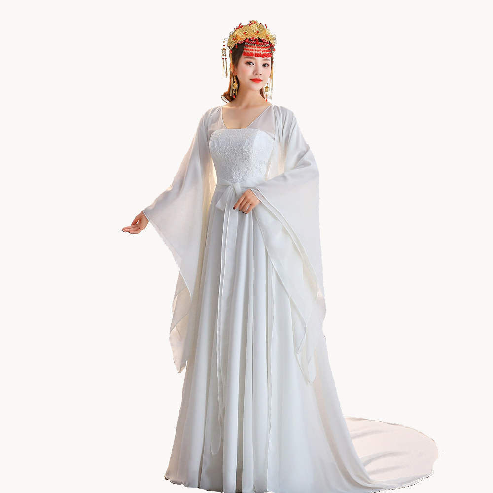 Return To Han Tang Style Women Amelioration of Chinese clothes Ancientry Peri Dramaturgic Dress Girl Dance Wear Cosplay Show