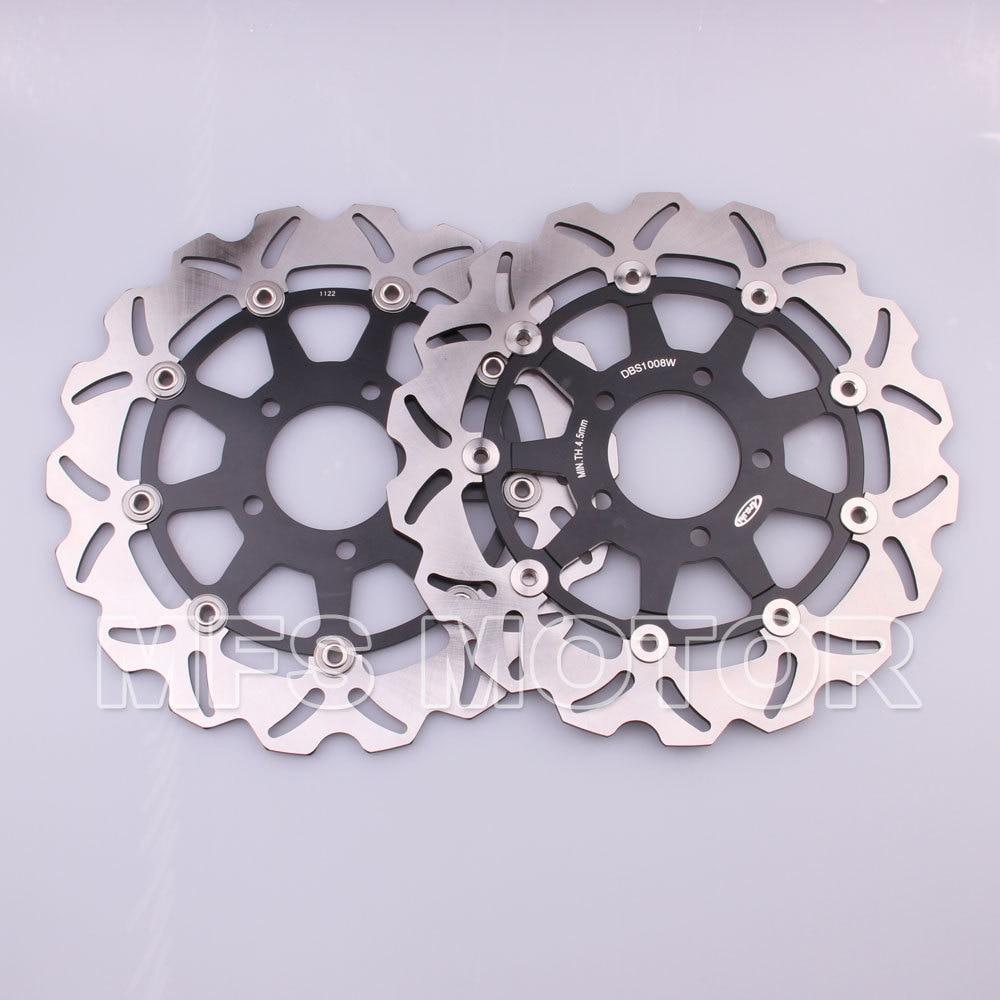 Front brake discs rotor for suzuki gsxr 600 750 2004 2005 gsxr 600 04 05gsxr750 04 05 gsxr1000 2003 2004 gsxr 1000 03 04 black
